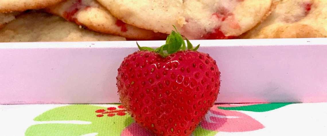 Erdbeer-Frischkäse-Cookies