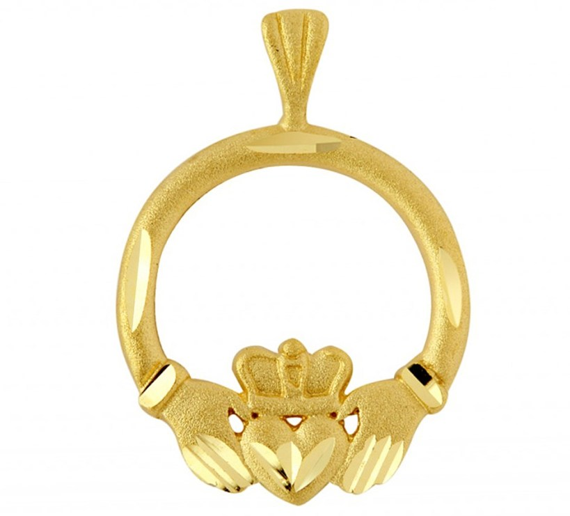 Claddagh Pendant Necklace in 9ct Gold