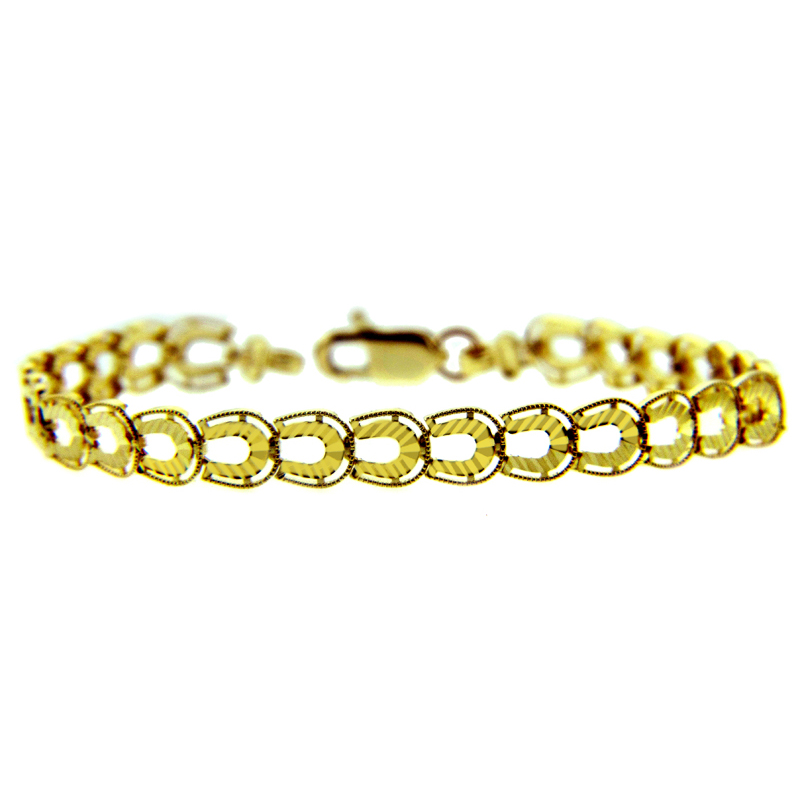 Horseshoe Bracelet in 9ct Gold