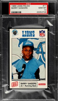 barry sanders rookie card checklist