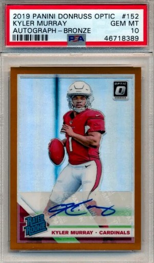 kyler murray optic rated rookie card