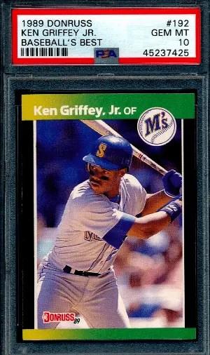 Ken Griffey Jr. rookie card Donruss Baseball's Best