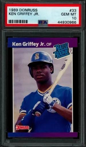 1989 ken griffey jr donruss rated rookie RC