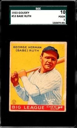 Top 5 1933 Goudey Baseball Cards