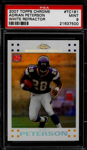 Adrian Peterson rookie card topps chrome