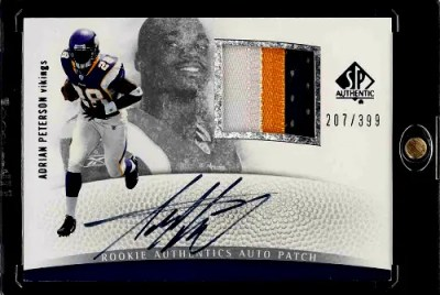 Adrian Peterson SP Authentic rookie card