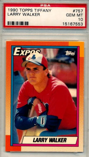 larry walker topps tiffany rookie card