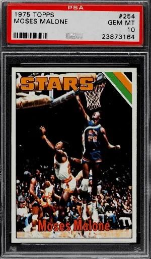 1975 Moses Malone Topps Basketball