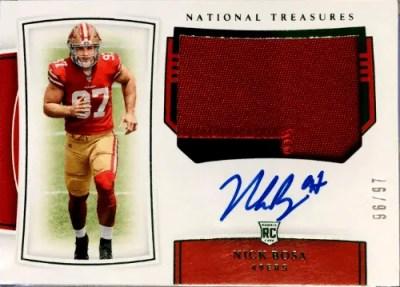 Nick Bosa National Treasures rookie card