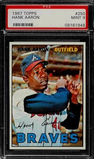 Hank Aaron Baseball Card Checklist
