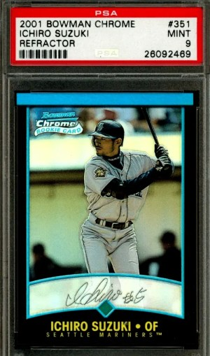 Ichiro Suzuki Bowman Chrome rookie card