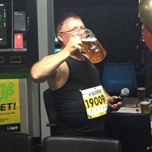 Bithday Boy Swollen Colon, beer loading before the Gold Coast Half Marathon