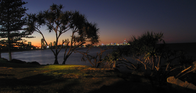 burleigh view at night