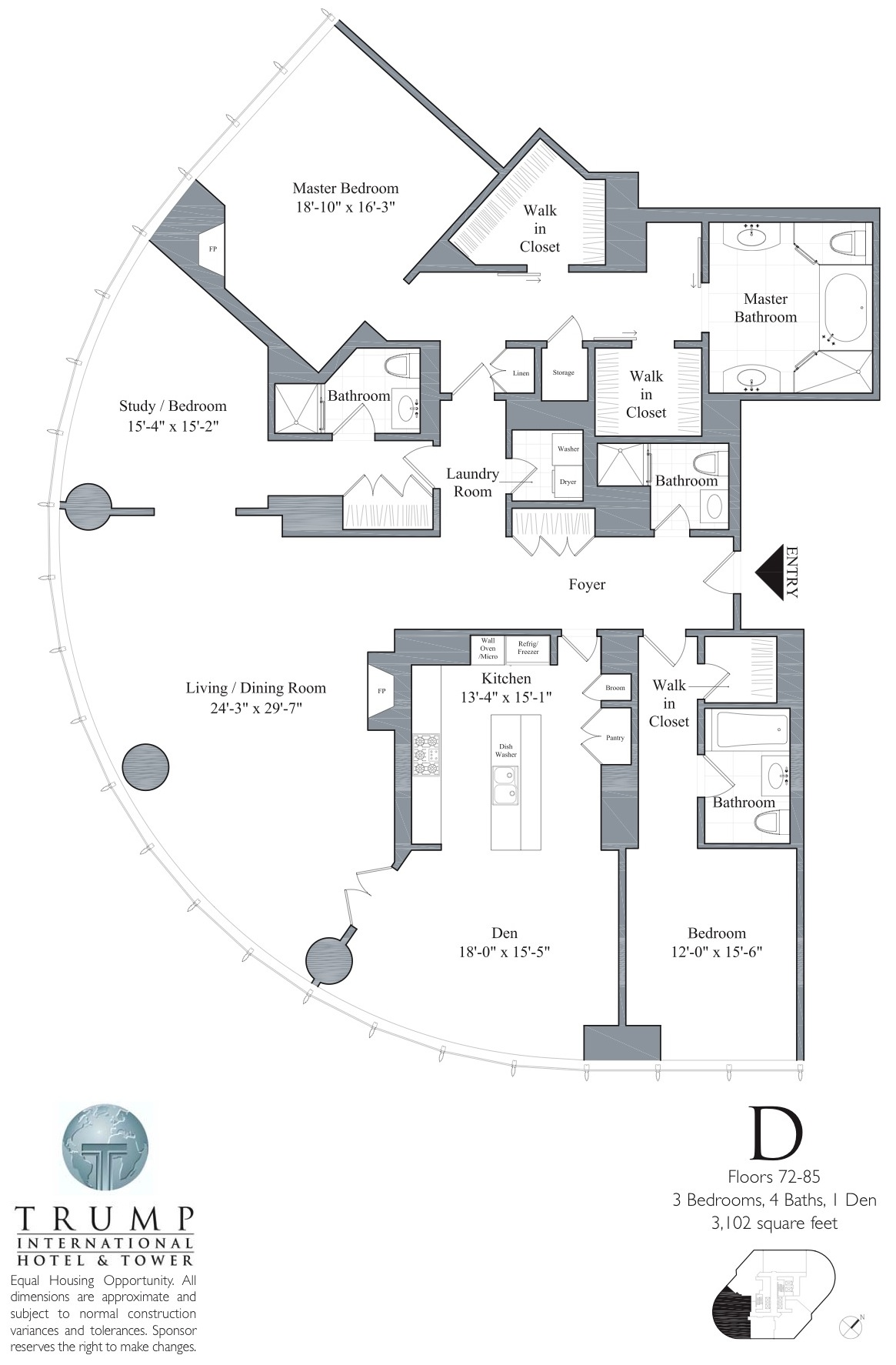 Trump Tower Chicago Floor Plans