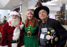 Senior lunch volunteers dressed up for Christmas