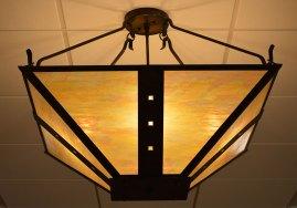 craftsman light fixture close up