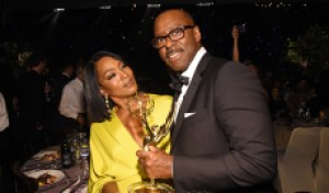 Couple goals: Angela Bassett and Courtney B. Vance could become the latest Emmy-winning spouses
