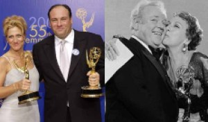 Which 14 TV husbands and wives won Emmys in the same year?