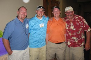 The Winning Team from the Gold Dust golf scramble tournament