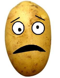 A picture of a very sad potato.