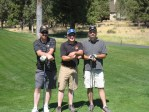 Bart Crawford, Ty Hulse and Cory Chavez at the Gold Dust Potatoes golf scramble.