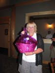 Jan Walker took home a spa basket for Women's Closest To The Pin at the Gold Dust golf scramble.