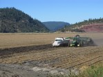 A chipping potato field on the Running Y Ranch being harvested.