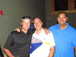Matt Thompson, Patrick Hagan and Sanjay Prasad were the second place team at Gold Dust's 2013 Open House Field Day golf scramble.
