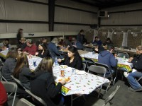 Gold Dust and Walker Brothers employees enjoy lunch at the 2013 Shed Christmas Luncheon.