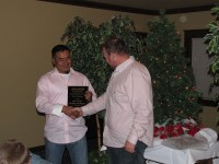 Trino Zendejas Rodriguez was given an award for stepping up in his role as ranch manager at the Running Y Ranch.