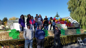 Gold Dust Potato Processors and Walker Brothers employees gather for a team photo at the Klamath Basin Potato Festival.