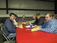 Gold Dust and Walker Brothers' leaders enjoying lunch at the 2014 Christmas luncheon in Malin, Oregon.