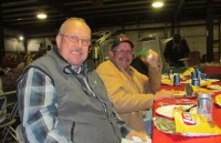 Brothers Bill and John Walker enjoying lunch at the 2014 Christmas luncheon.