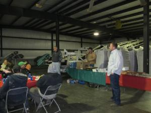 Gold Dust and Walker Brothers partners Bill, John and Weston Walker thank the shed and farm crews at the 2014 Christmas Luncheon.