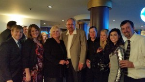 Darcy and Tricia Hill, Jan and Bill Walker, Matt and Cassie Thompson, and Lexi and Bart Crawford at the Ross Ragland Theater for the Klamath County Chamber of Commerce's 94th Annual Chamber Gala Awards.