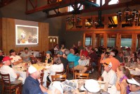 Gold Dust's guests enjoying dinner at the Ranch House at the Running Y Resort after the Open House Field Day Golf Scramble.