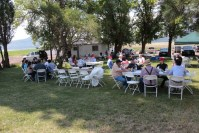 Gold Dust's guests were treated to a sack lunch at the Running Y Ranch Headquarters during the 2015 Open House Field Day.