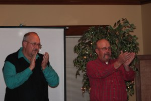 Bill and John Walker thank the leaders of Gold Dust and Walker Brothers for their hard-work.