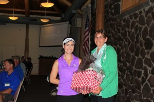 Dianne Spires won Women's KP at Gold Dust Potatoes' 16 Annual Open House Field Day Golf Tournament.