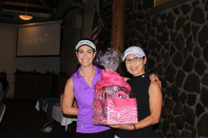 Sunny Kang won the Women's Longest Drive at the Gold Dust Potatoes 16th Annual Open House Field Day golf scramble.