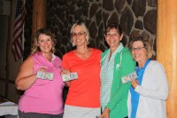 Tricia Hill, Suzy Frederickson, Dianne Spires & Tammie Staunton's team was last place at the 2016 Gold Dust Open House Field Day Golf Tournament.