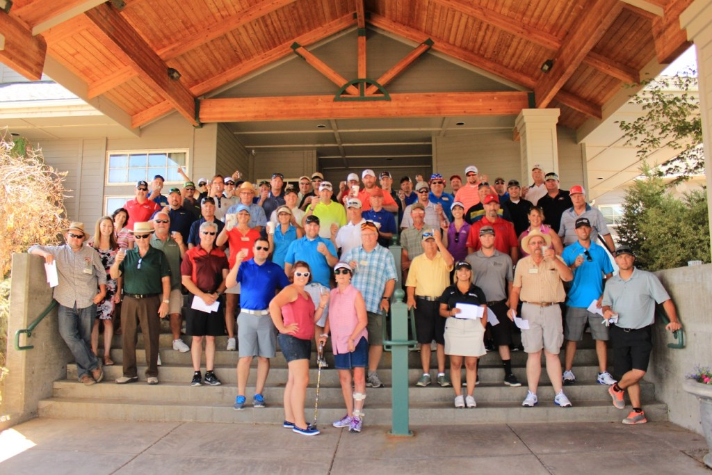 Gold Dust Potato Processors' guests gather at Reames Golf & Country Club in Klamath Falls for the 16th annual Open House Field Day golf tournament.