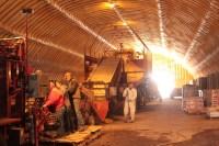 The potato seed processing line in a potato cellar at Gold Dust Potato Processors.