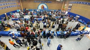 Students from around the Klamath Basin filled Valhalla Court at Mazama High School for the 2017 Mazam College and Career Fair held in Klamath Falls, Oregon.