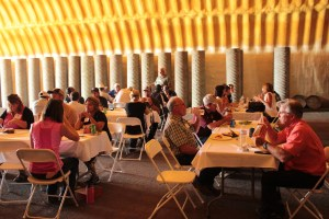 Gold Dust and Walker Farms' guests enjoyed lunch in Cellar 1 during the 2017 Open House Field Day.