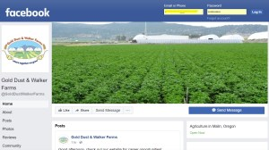 A snapshot of Gold Dust and Walker Farms' Facebook page.