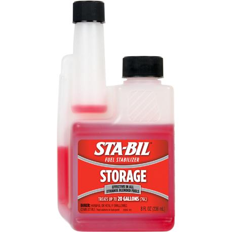 Стабилизатор топлива STA-BIL помогает поддерживать свежесть топлива.