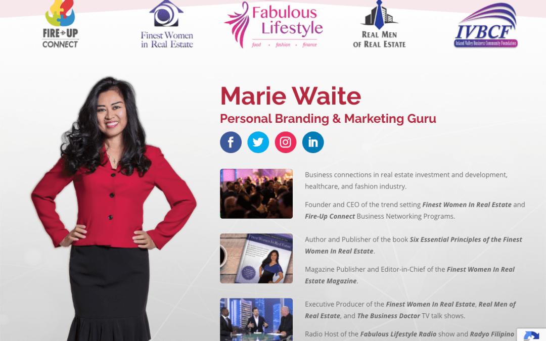 Marie Waite Landing Page