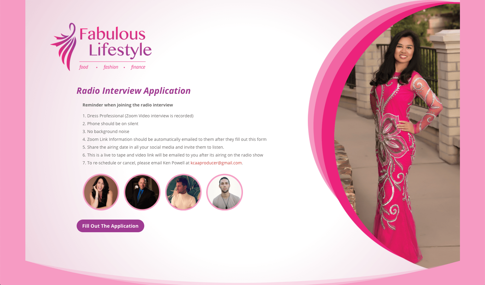 Fabulous Lifestyle Interview Landing Page