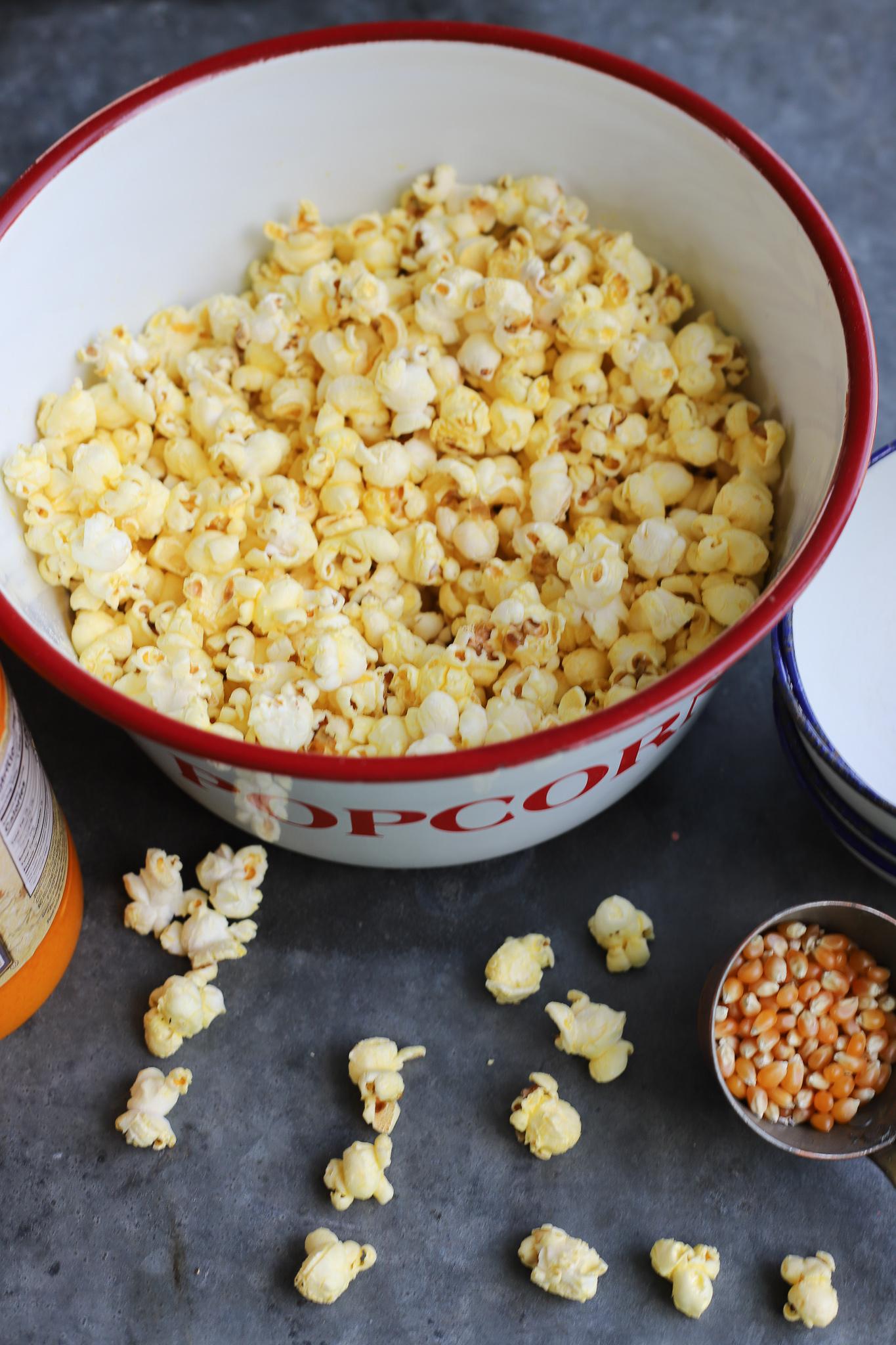 butter flavored coconut oil popcorn